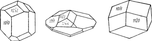 Габитус кристаллов фенакита