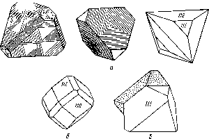 Габитус кристаллов сфалерита