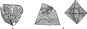 Габитус кристаллов халькопирита