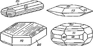 Габитус кристаллов халькозина