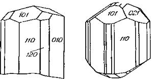 Габитус кристаллов альгара
