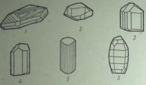 Кристаллы тригональной сингонии