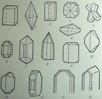 Кристаллы ромбической сингонии