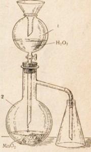 Получение кислорода из перекиси водорода