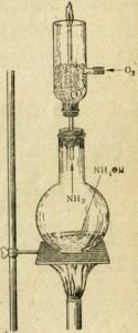 Прибор для сжигания аммиака в кислороде
