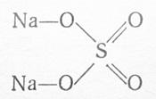 Молекула сульфата натрия