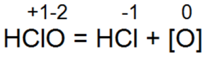 Разложение хлорноватистой кислоты