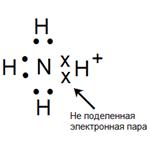 не поделенная электронная пара азота
