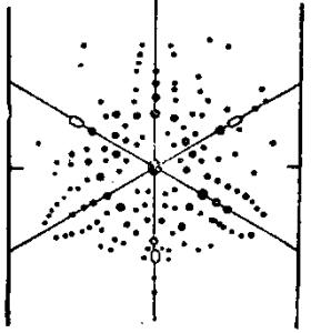 Рентгенограмма кристалла кальцита