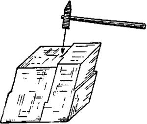 Совершенная спайность в ромбоэдре кальцита