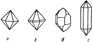 Полиморфизм Облик кристаллов кварца, образовавшихся при различных природных условиях