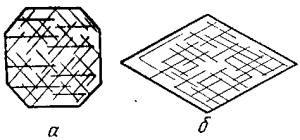 Трещины спайности под микроскопом