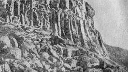 Столбчатые отдельности в лавовом потоке