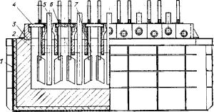 Диафрагменный магниевый электролизер с верхним вводом анодов