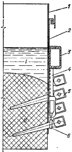 Поперечный разрез анода электролизера