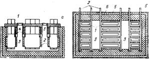Бездиафрагменный электролизер с верхним вводом анодов с рамным катодом