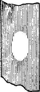 Пластинка слюды, покрытая слоем воска