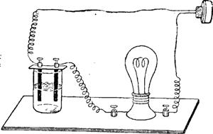 Установка для сравнения электропроводности растворов