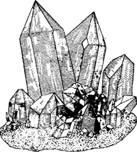Кристаллы горного хрусталя