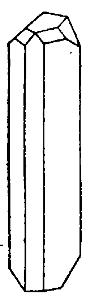 Кристалл моноклинической серы