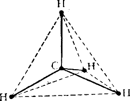 Тетраэдрическая модель молекулы метана