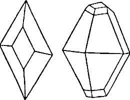 Кристаллы ромбической серы