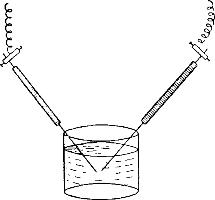 Схема прибора для получения коллоидного раствора серебра