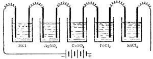 Схема установки для иллюстрации закона электролиза