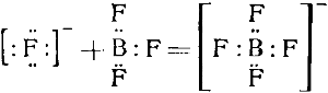 Образование комплексного аниона [BF4]- из ионов F- и молекул BF3