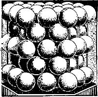 Призма из плотно упакованных шаров