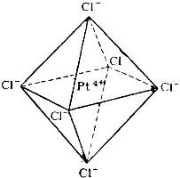Строение комплексного иона [PtCl6]2--
