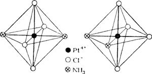 Строение комплексной соли [Pt(NH3)2O4]