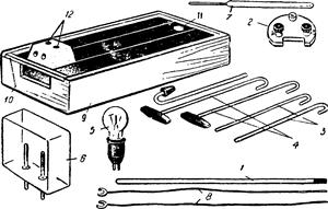 Набор для опытов по химии с электрическим током