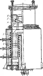 Вакуумный аппарат для получения магния высокой чистоты