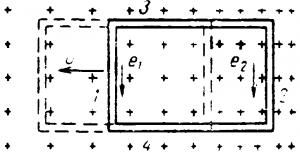 Движение контура в магнитном поле
