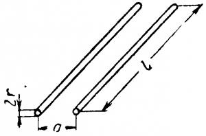 Два параллельных цилиндрических провода