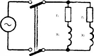 Схема параллельного соединения двух катушек