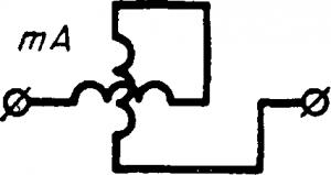 Схема электродинамического миллиамперметра