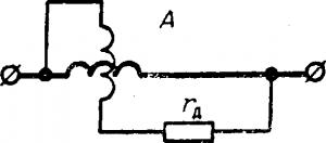 Схема электродинамического амперметра