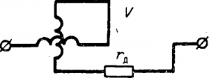 Схема электродинамического вольтметра