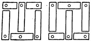 Листы стали при сборке трехфазного трансформатора