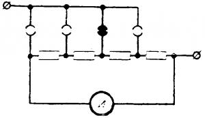 Амперметр с многопредельным шунтом