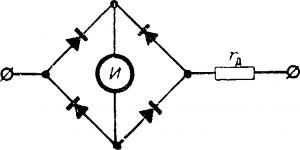 Схема выпрямительного вольтметра
