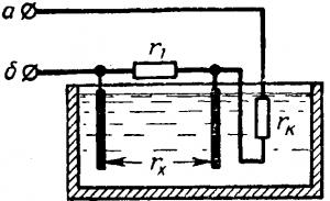 Схема электролитического преобразователя.