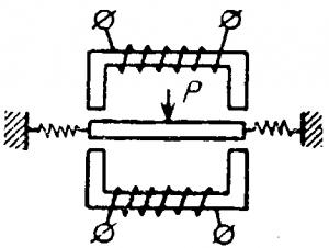 Схема индуктивного дифференциального преобразователя