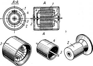Конструкция двигателя с немагнитнымполым ротором