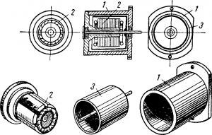 Конструкция двигателя с немагнитным полым ротором и обмоткой на внутреннем статоре