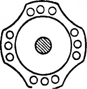 Ротор однофазного синхронного реактивного двигателя