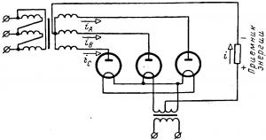 Схема трехфазного выпрямителя