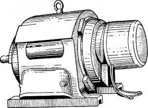 Трехфазный асинхронный двигатель с кольцами